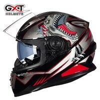 2017 Winter New GXT Double Visor Motorcycle Helmet G 999 Full Face Motorbike Helmets Moto Knight