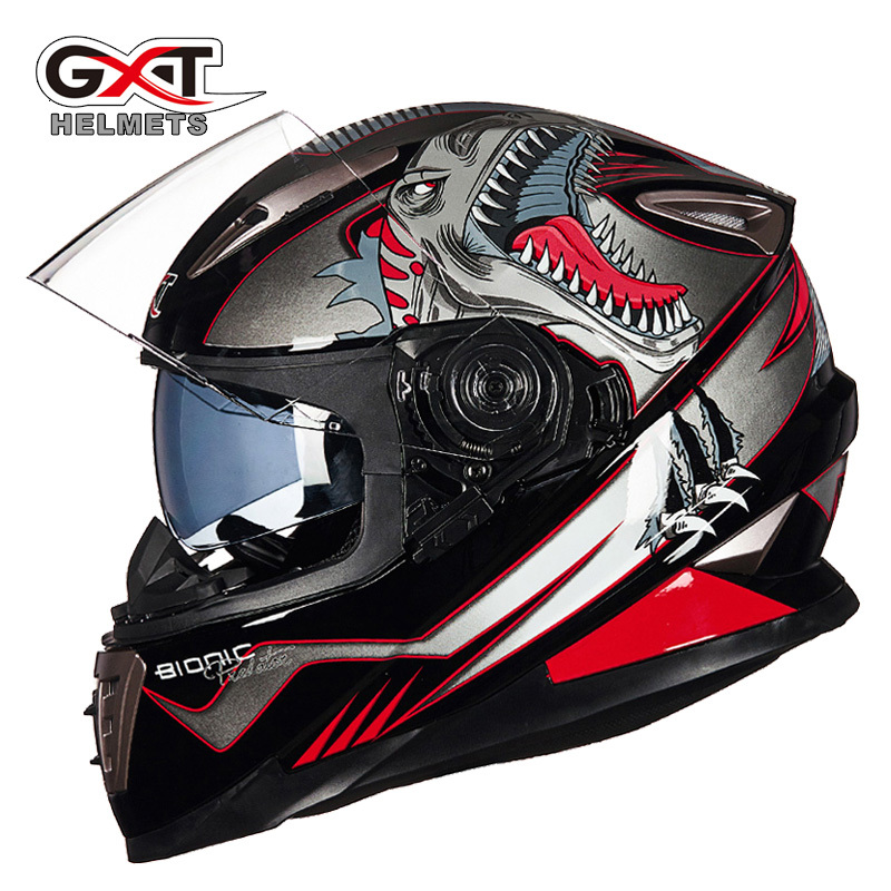 2017 Winter New GXT Double visor Motorcycle Helmet G-999 Full Face Motorbike Helmets moto Knight equipment size M L XL2017 Winter New GXT Double visor Motorcycle Helmet G-999 Full Face Motorbike Helmets moto Knight equipment size M L XL