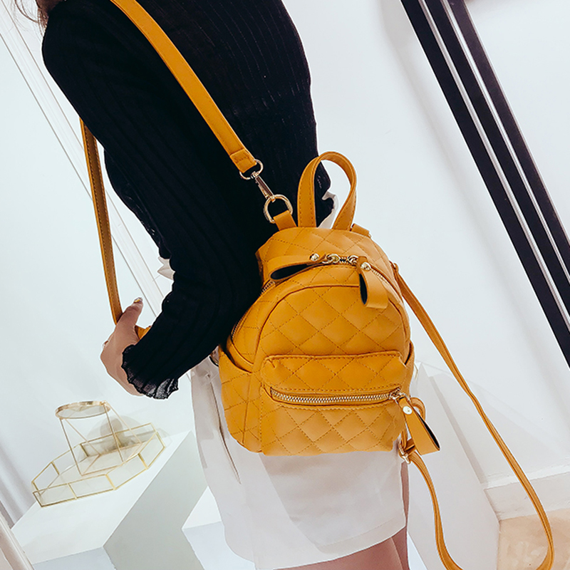 Women's Backpacks For Teenage Girls Schoolbag Backpack Fashion Mini Shoulder Bag Preppy School Style PU Leather Rucksack Mochila