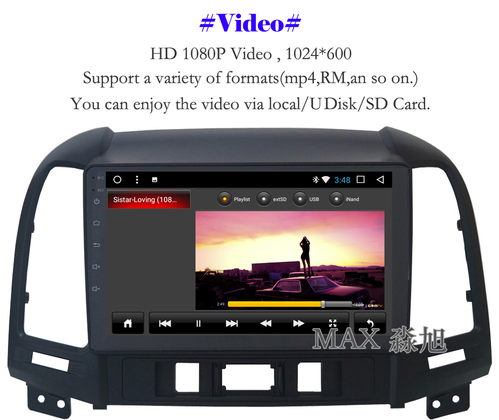 Discount MAX Android 8.1 2G 32G 8 Core Car DVD Player for Hyundai santa fe 3/4holes with 2.5D+IPS Screen car stereo radio RDS Maps swc 6
