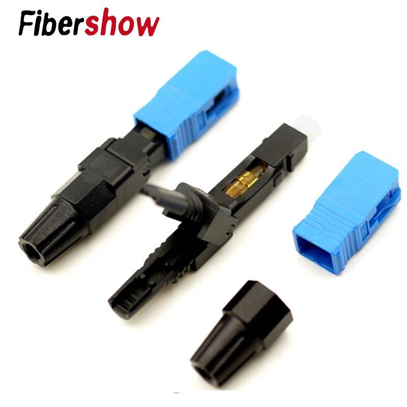 Conector rápido de fibra óptica SC, conector rápido UPC, Conector de fibra óptica integrado 500M al aire libre LC UPC dúplex gota FTTH Cable LC monomodo dúplex G657A Cable de parche de fibra óptica FTTH Cable de fibra óptica