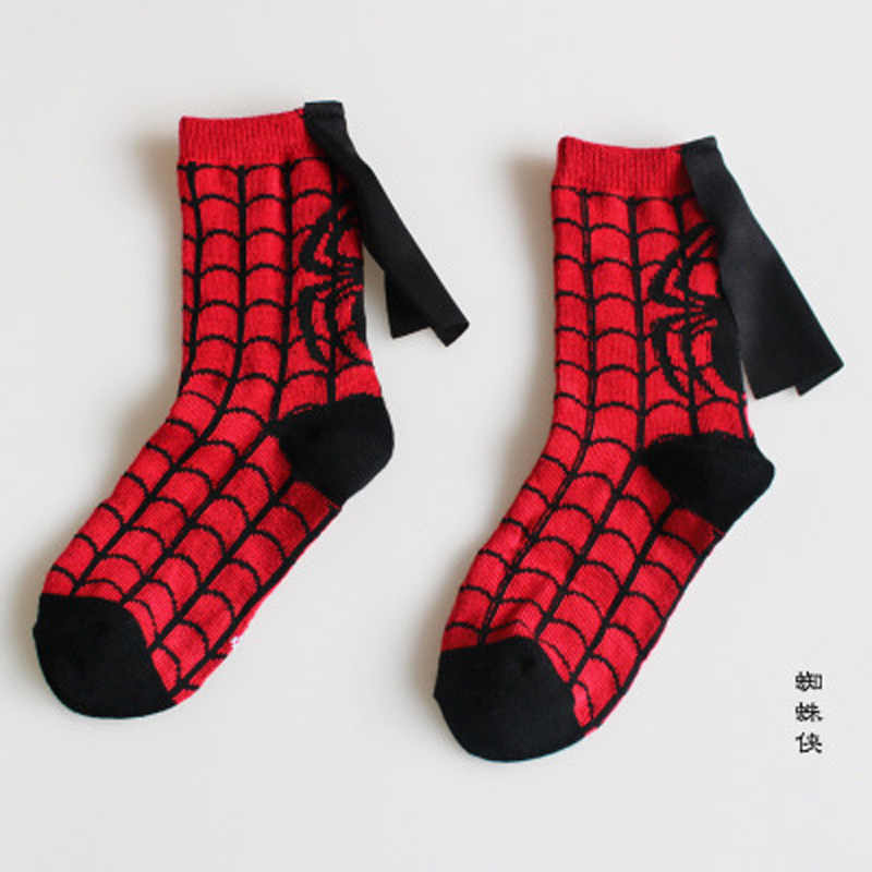 1 par novo todas as estações crianças personagem de algodão marvel meias super herói padrão artesanal relógio costura dança meias do bebê