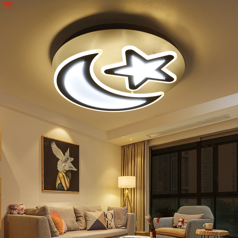 led ceiling light 30W led child baby room lights ceiling lamps bedroom decoration lights children's bedroom lights free delivery creative star moon lampshade ceiling light 85 265v 24w led child baby room ceiling lamps foyer bedroom decoration lights