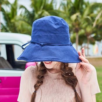 new cotton Beach Bow Hats For Women Hat Female Lady Bucket Hat hat summer woman Anti-UV Panama Summer Sun Cap Viseira