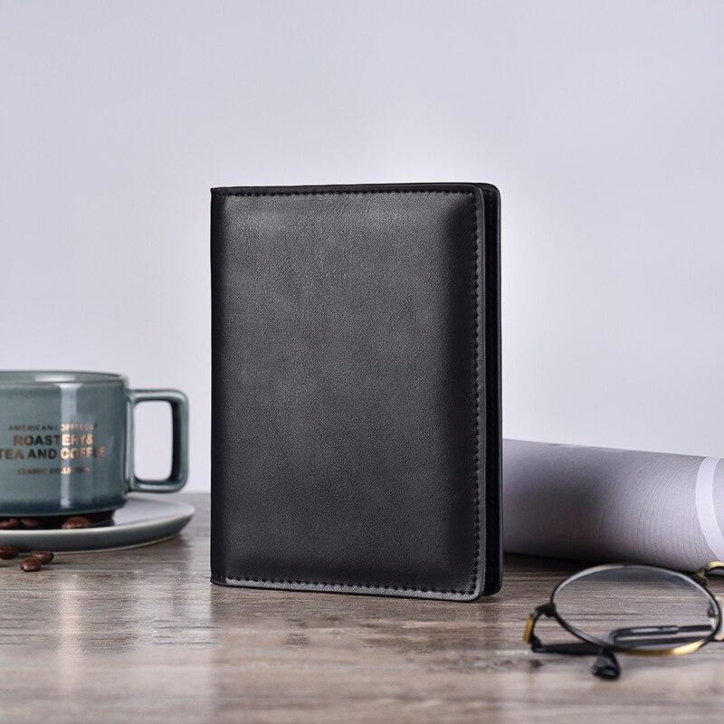 Echt leer paspoort Cover ID visitekaarthouder Travel Credit Wallet voor mannen (20)