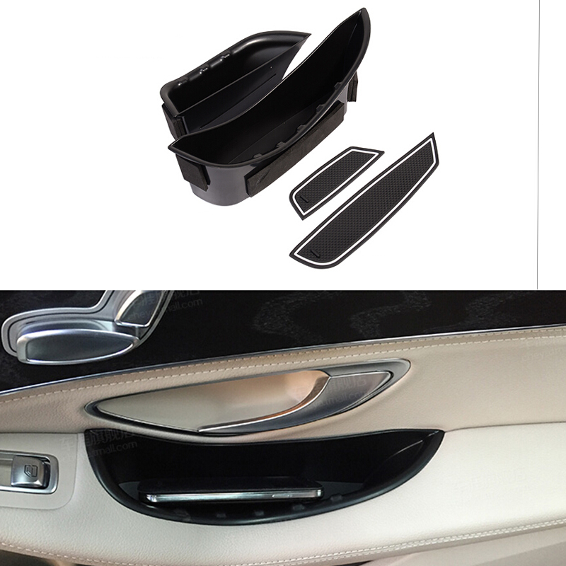 Car Front Rear Door Handle Storage Box Glove Armrest Box For Mercedes Benz C Class W205 2015
