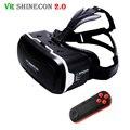 2017 vr shinecon 2.0 3d óculos de realidade virtual de fone de ouvido do smartphone google papelão vrbox capacete para iphone android 4.7-6' telefone