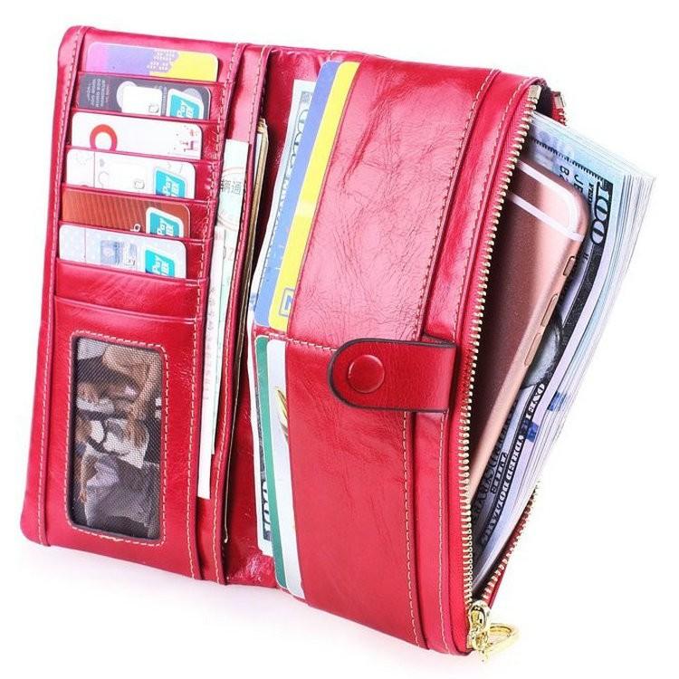 ladies wallets genuine leather