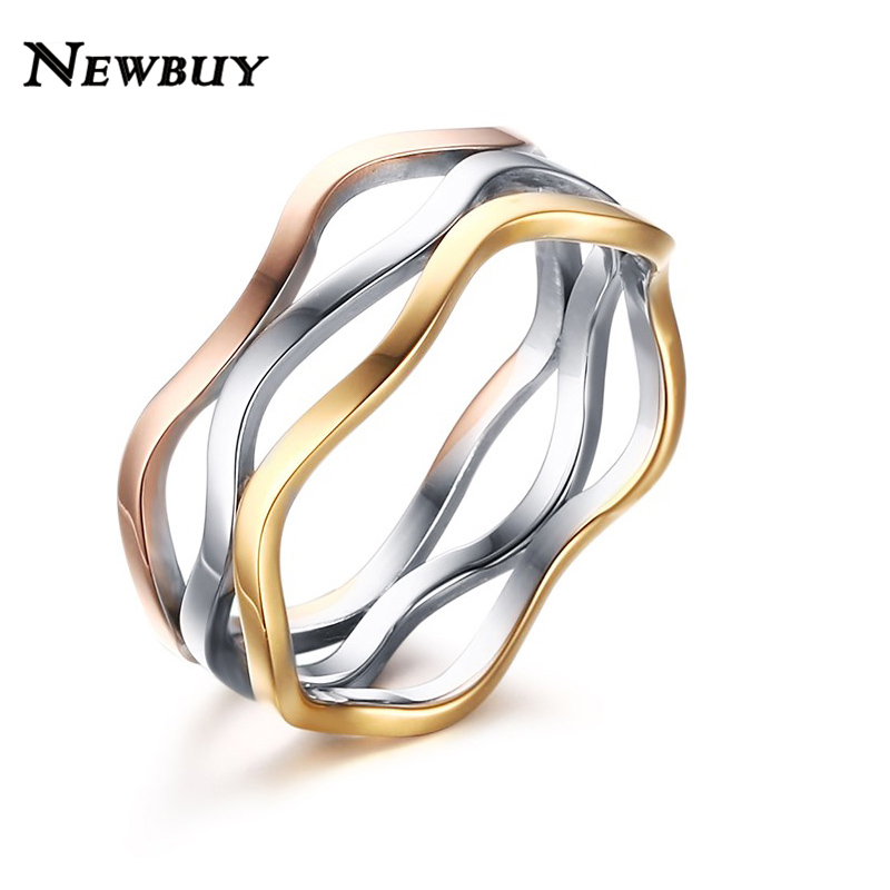 online shop newbuy brand elegant wedding rings for women new fashion 3 colors combination engagement rings women jewelry us size 6 7 8 9 aliexpress mobile - Fancy Wedding Rings