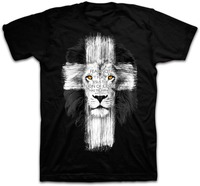 New Mens Jesus Kerusso Brand Christian T Shirt Mens Lion Cross Fear Not Tops Tee Shirts