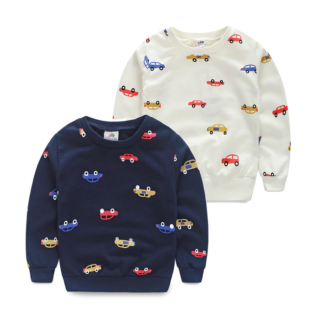 SL-487, spring children boys sweatshirt, long sleeve colorful cars pullover outerwear, cotton terry
