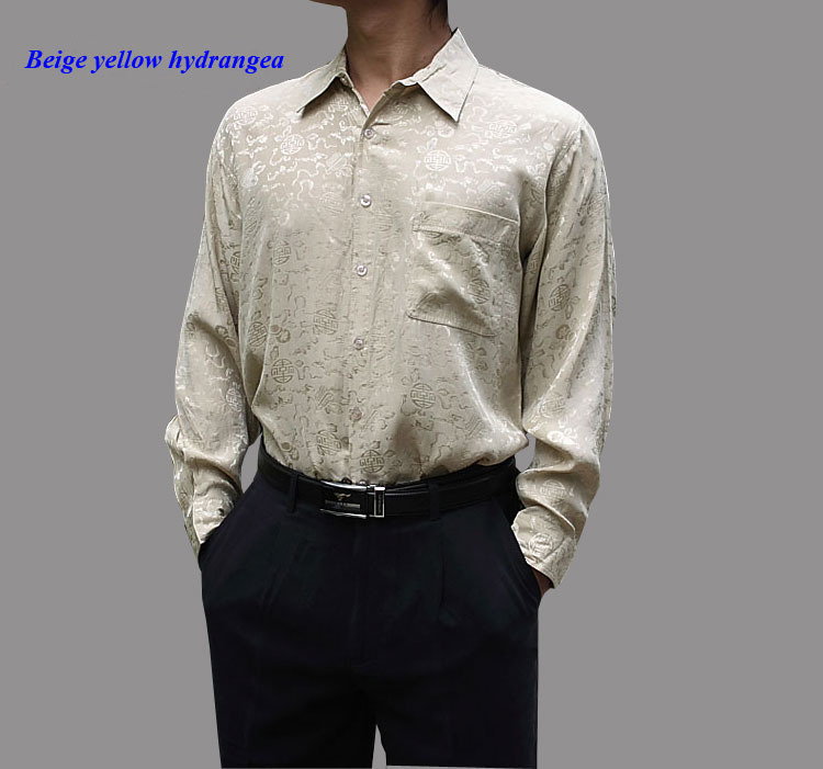Buy 100 natural silk male long sleeve for Where to buy casual dress shirts