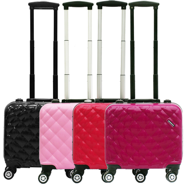 Aluminum Frame High Quality Luggage Case Trolley Cosmetic Box With Lights Rolling Travel Beauty