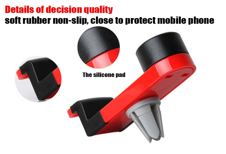 מתכוונן 360 נייד אוניברסלי לרכב אוורור הר Stand מחזיק טלפון עבור Samsung s7 קצה Xiaomi HTC LG IPhone 5S 7 6 פלוס