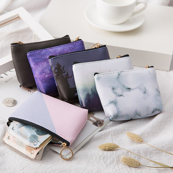 Women Small Cosmetic Bag PU  Leather Travel Makeup Case Storage Pouch Purse Organizer Pencil Make Up Cute Nesesser Students bags