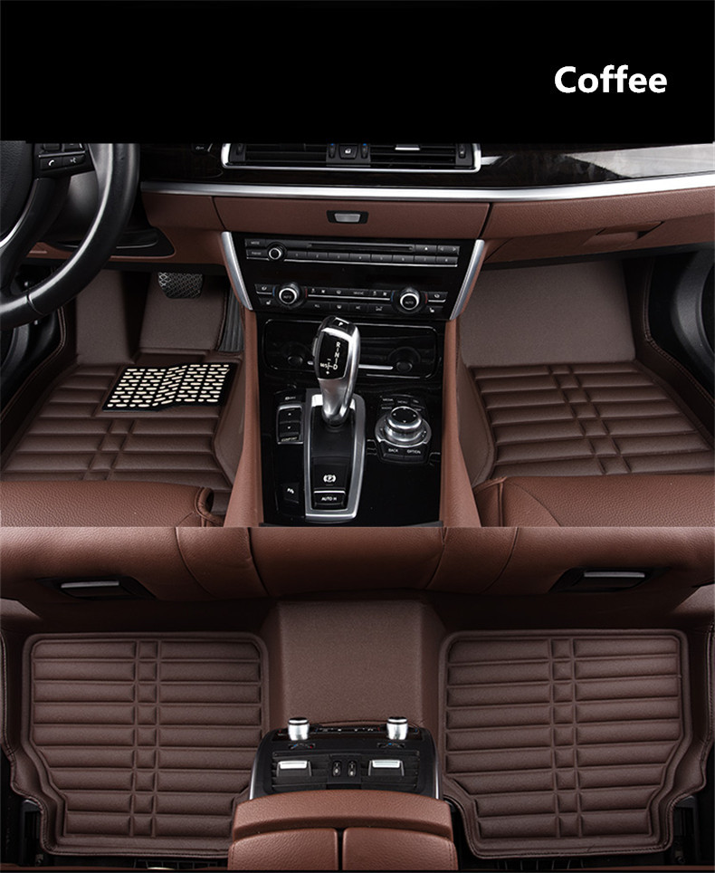 Auto Floor Mats For Peugeot 3008 2013-2018 Foot Carpets Step Mat High Quality New Water Proof Clean Solid Color Mats