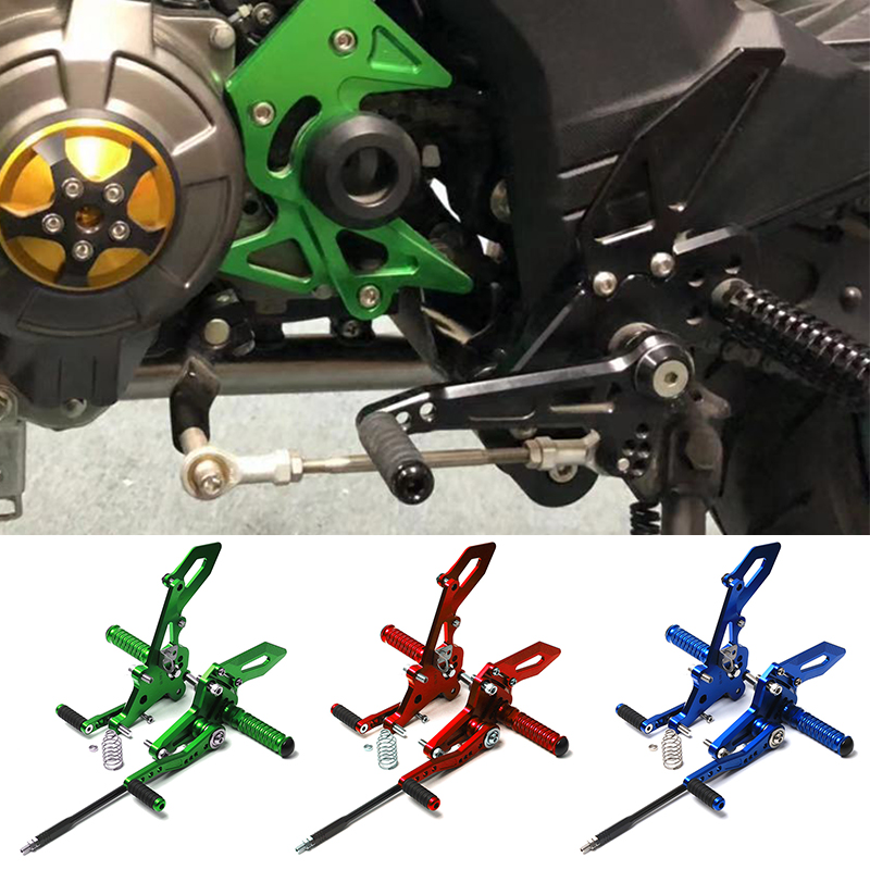 For Kawasaki Z125 Right Left CNC Footrest Motorcycle Aluminum Alloy Adjustable Rear Sets Motorbike Foot Rests