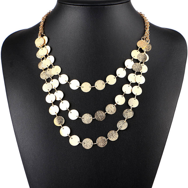 Women Necklace Alloy Statement Necklaces Pendants Vintage Jewelry Multi Layer Necklace Women Accessories for Gift Party KK008