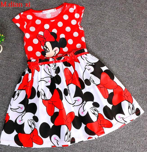 Cinderella Dress 2017 New Children's Clothing Minnie Dot Kids Dress Tutu Princess Children Dress Casual Girls Clothes by M.Dian Xi