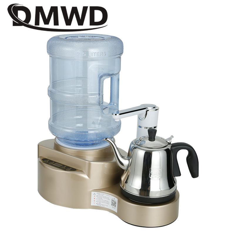 DMWD Instant Hot Water Dispenser Pump Gallon Drinking Machine 1L Stainless Steel Electric Kettle Teapot Boiler Mini Tea Bar EU