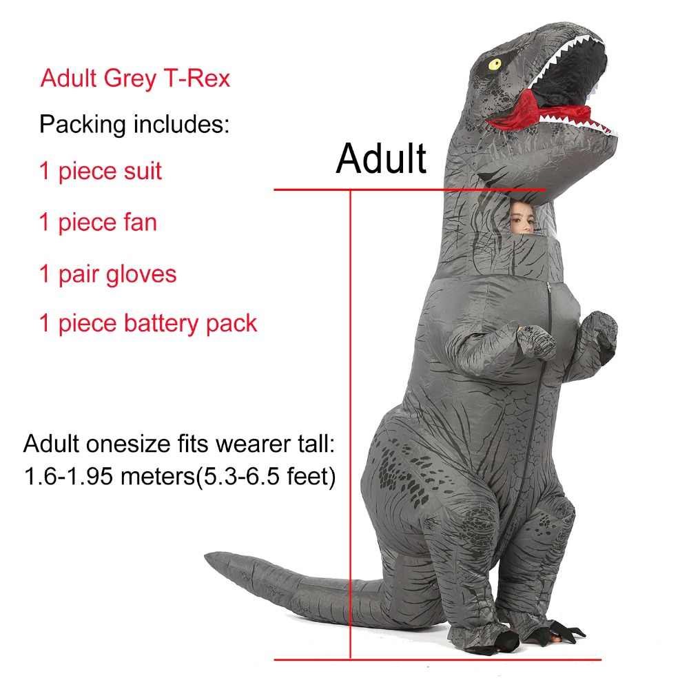 Костюм для взрослых T-rex Trex, надувной динозавр, костюм для Хэллоуина, костюм для женщин и мужчин, Косплей животных, вечерние, Fantasia Disfraces