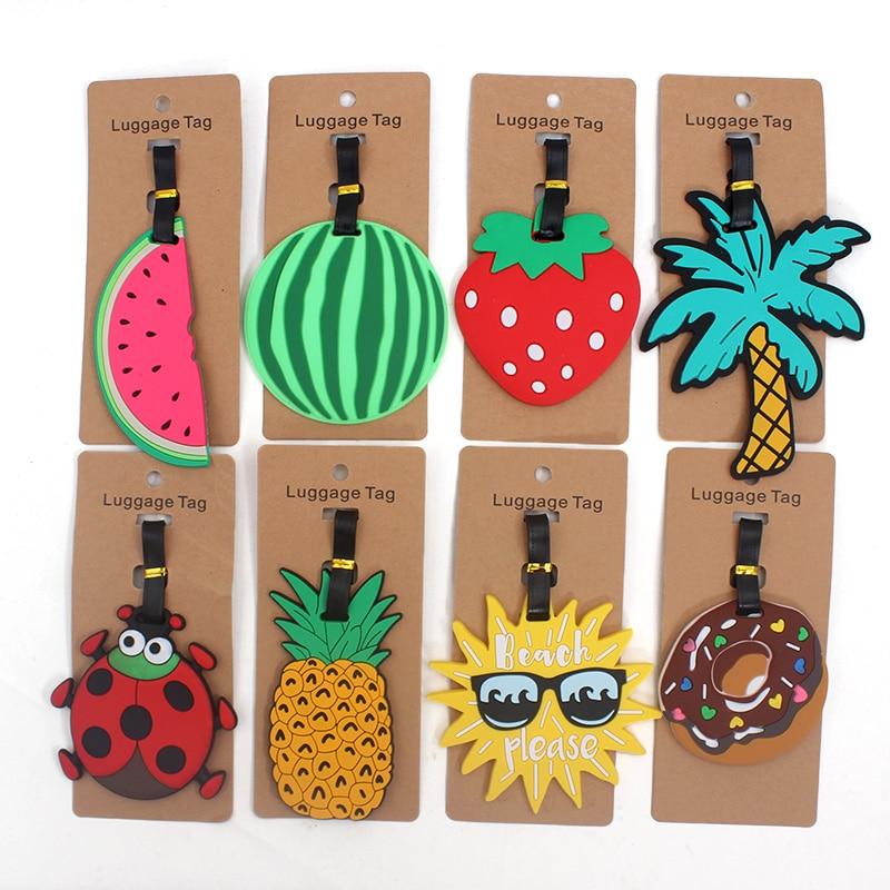 Frutas de moda Accesorios de viaje Creativo Etiqueta de Equipaje Gel - Accesorios de viaje