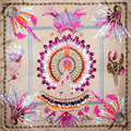 100% Silk Scarf Women Scarf Feather Scarf Silk Bandana 2017 Hot Hijab Latest Design Middle Square Silk Scarf Gift for Lady