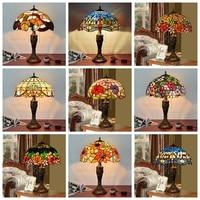 Настольная лампа Тиффани пятнистости Стекло Европейская барокко классический для Гостиная E27 110 240 В