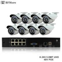 BFMore H 265 5 0MP POE 8CH NVR Kit CCTV System IP Camera P2P IR IP66