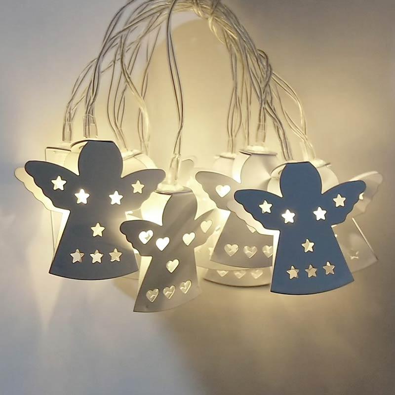 1,5/3 mt LED Lichterketten Engel Batterie Party Lampe Home Garten Dekoration -- M25