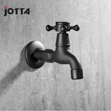 Black mop pool faucet single cold fast opening copper main atomizing long section