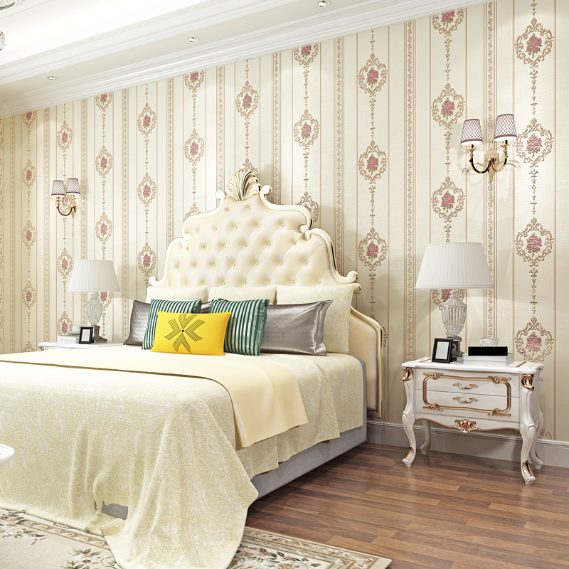 European Pastoral Damask Floral Wallpaper For Walls ...