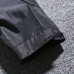 Image 5 - Chaquetas con capucha impermeable para hombre Otoño de talla grande 8XL 9XL 10XL 11XL 12XL chaqueta holgada de gran tamaño con cremallera