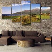 HD Print Large 5 Piece Irish Mountain Cuadros Decoracion Landscape Canvas Wall Art Home Decor For Living Room Painting
