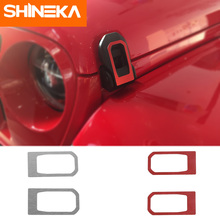 SHINEKA Car Stickers for Jeep Wrangler JL 2018 Up Exterior Accessories Hood Lock Engine Cover Decoration