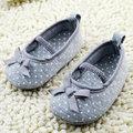 Девушки новорожденный ребенок Prewalker принцессы обувь для малышей бабочка цветок первые ходунки обувь