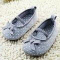 Las muchachas del bebé recién nacido Prewalker princesa zapatos infantiles zapatos del niño de la mariposa flor primeros caminante