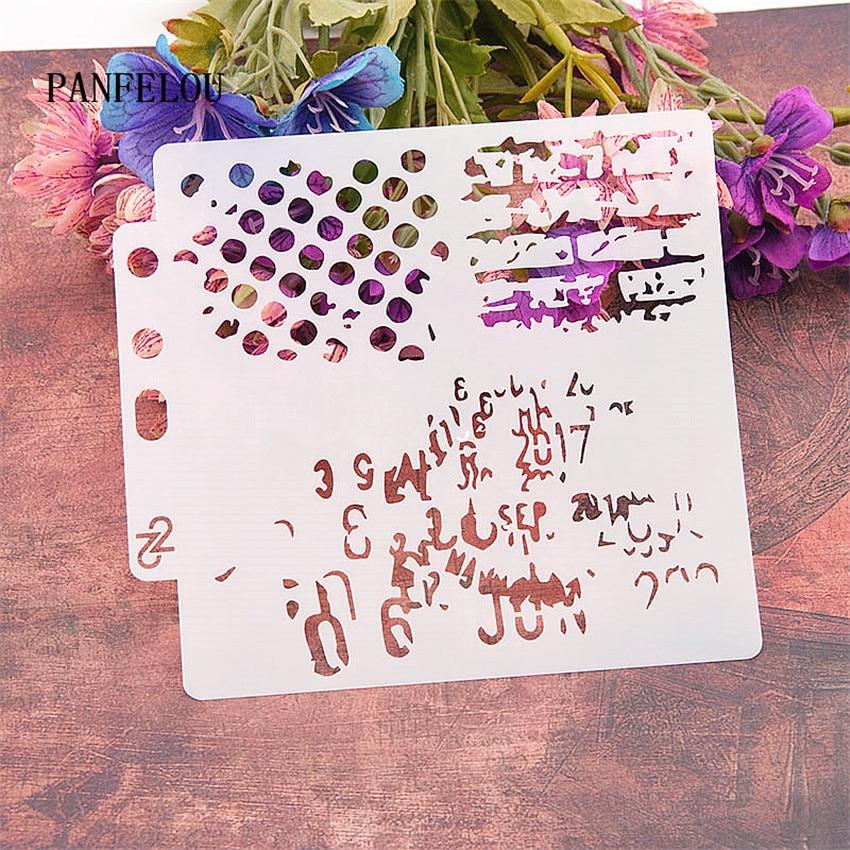 Clutter Graphics Scrapbook Stencils Spray Plastic Mold Shield DIY Cake Hollow Embellishment Printing Lace Ruler Valentine