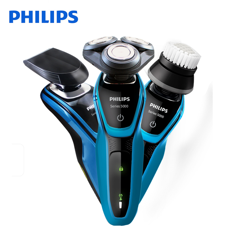 Original Philips Professional Electric Shaver S5077 Rotary Rechargeable With 3D Floating Heads For Men's Razor 100-240V philips s531 rechargeable electric shaver water washable razor