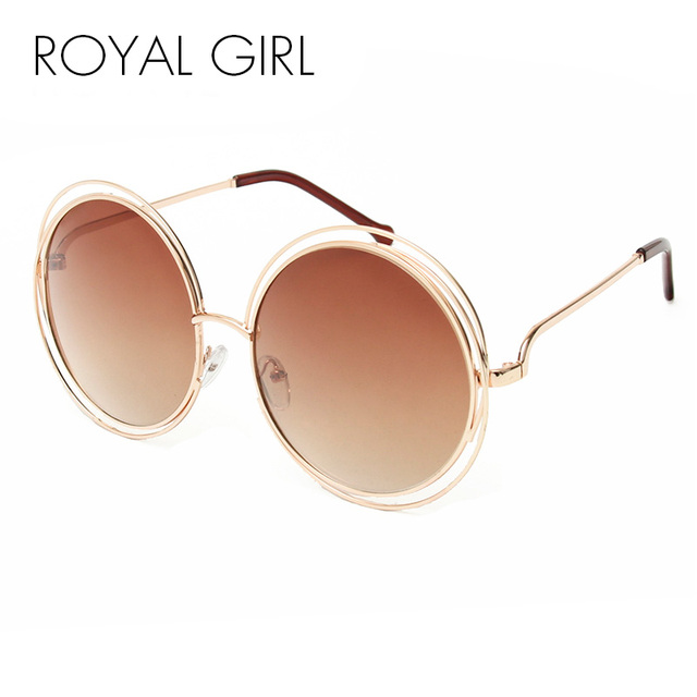 ROYAL GIRL NEW High Quality Elegant Round Wire Frame Sunglasses...