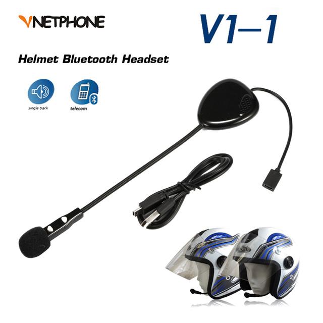 VNETPHONE 10 M Cascos de Moto Mono Auricular Inalámbrico Bluetooth Para Auriculares Manos Libres con Micrófono para el Teléfono
