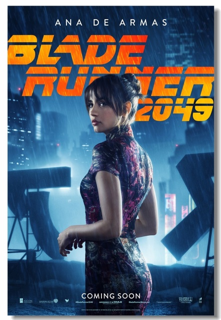 Custom Canvas Wall Decorations Blade Runner 2049 Poster Office Stickers Sexy Ana De Armas Wallpaper