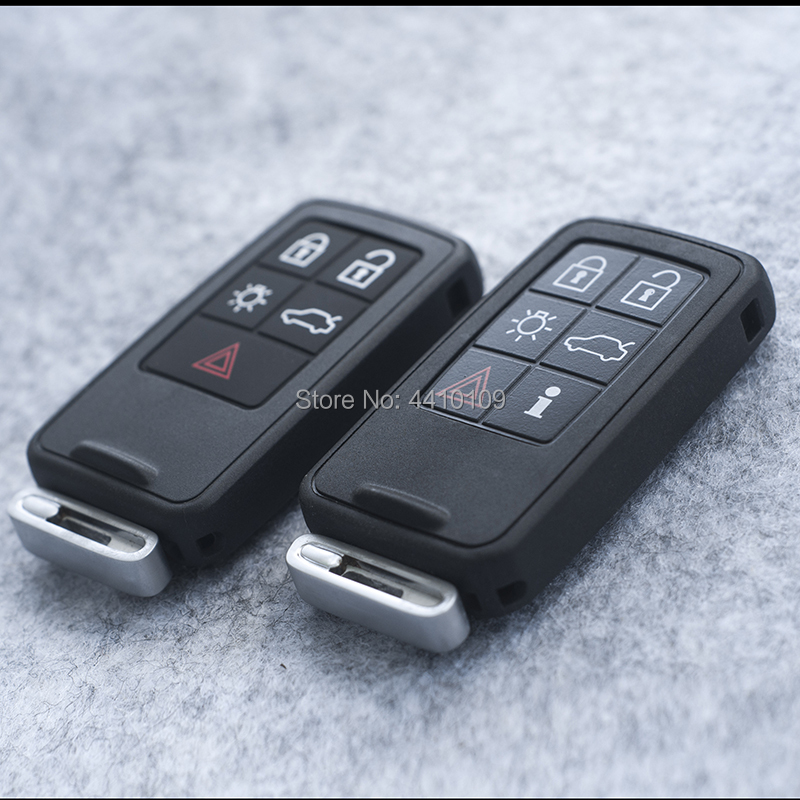 Smart Remote Key Shell Replacement For Volvo XC60 S60 S60L V40 V60 S80 XC70 4 i 1  Buttons Smart Car