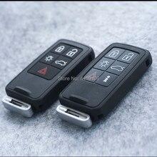 볼보 xc60 s60 s60l v40 v60 s80 xc70 4 + 1 버튼을위한 스마트 원격 키 셸 교체 로고가있는 스마트 자동차 키 케이스 커버