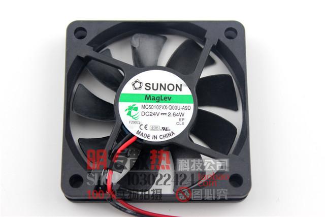 Original 6 CM cm 6010 24 V 2.64 W MC60102VX-Q00U-A9D ventilador de refrigeração