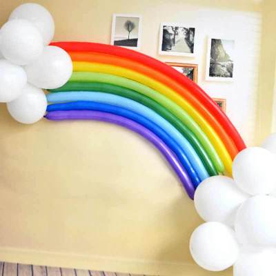 25pcs set Magic Rainbow Latex balloon Inflatable Air Balls for Wedding Kids Happy birthday party decoration Party Supplies in Ballons Accessories from Home Garden
