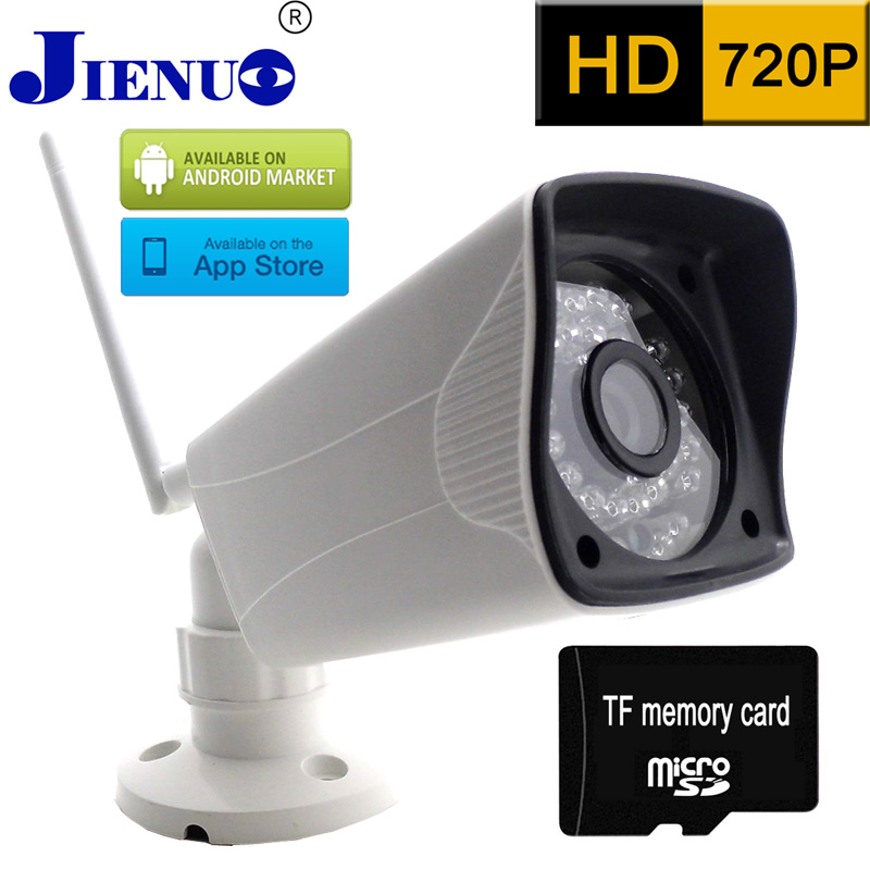 IP font b Camera b font 720P HD Wireless Memory card recording CCTV Home Surveillance Security