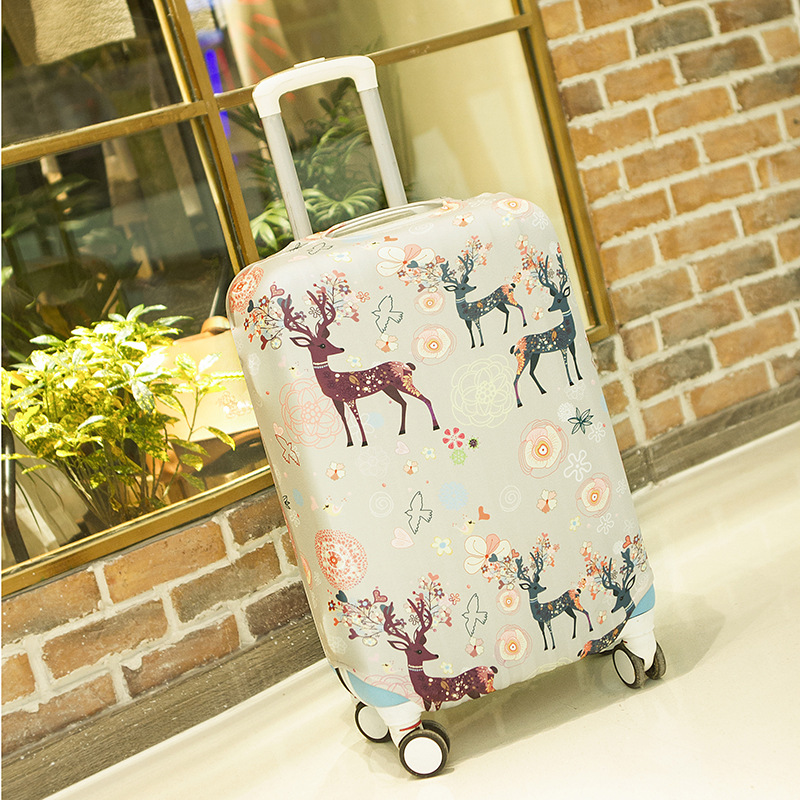 LeTrend Hot Sale Animal Pattern Rolling Luggage Cover Wheel Suitcase Cover Suitable For 18-28 Inch Travel Bag Trolley