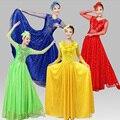 Костюм китайский Древний Традиционный Плюс Размер Платье Китайский народный Танец Костюм Народный Танец Костюм Танец с Веером костюмы