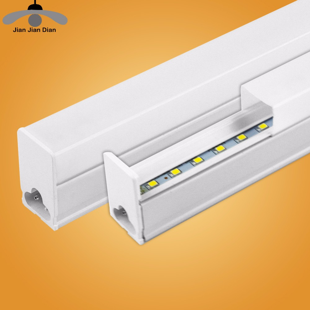 LED Tube T5 Integrated Light 1FT 2FT LED Fluorescent Tube Wall Lamp 6W 10W Bulb Light Lampara Ampoule Cold Warm White 110V 220V 2pcs set t5 led light tube ac85 265v 2 5w wall lamps 1ft led t5 tube fluorescent lamp lights connect cord power switch cable